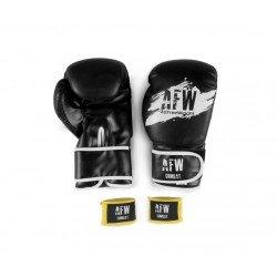 Pack guantes PU-PVC 12 OZ y vendas