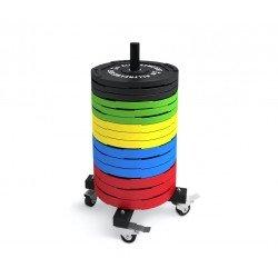 Rack de discos bumper vertical