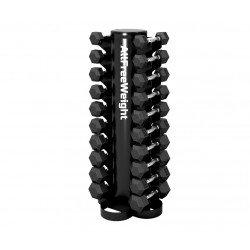 Rack vertical mancuernas de 1 a 10 kg.